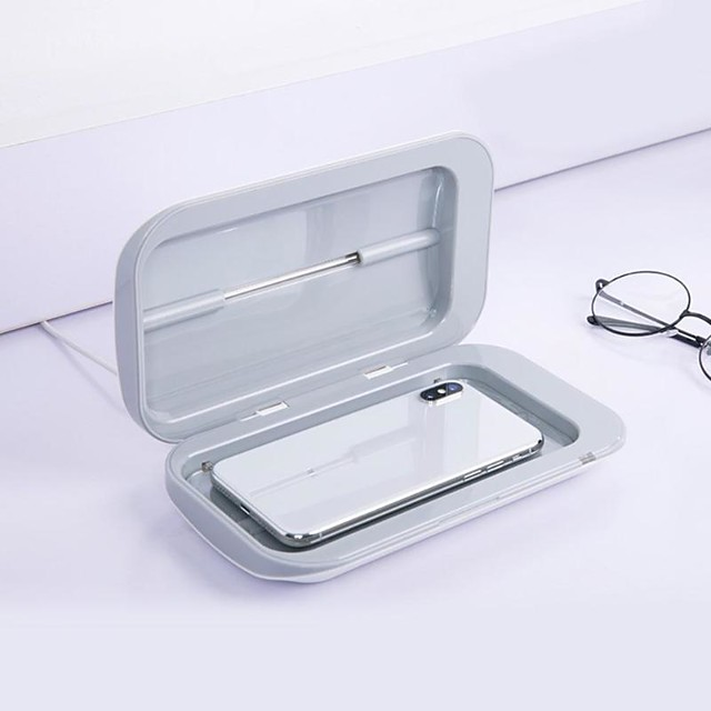 Portable Double UV Sterilizer Box Jewelry Watch Phone Cleaner Disinfection Clean Working Temperature Range 0-55 Degrees