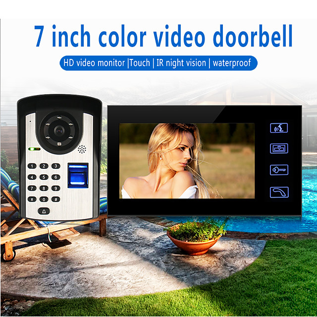 Wired 7 Inch Hands-free 800*480 Pixel One To One Video Doorphone