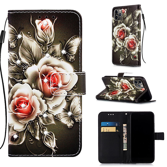 Case For Apple iPhone 11 / iPhone 11 Pro / iPhone 11 Pro Max Wallet / Card Holder / with Stand Full Body Cases Flower PU Leather for iPhone XS MAX XR XS X 8 PLUS 7 PLUS 6 PLUS 8 7 6S