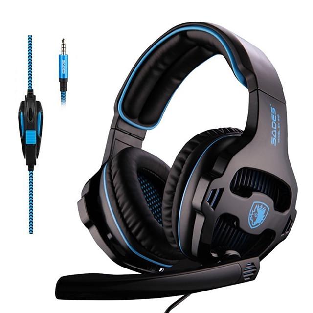 SADES SA-810 3.5mm Stereo Gaming Headset Headphones Multi-platform For PS4 Xbox One PC Mac Laptop Phone