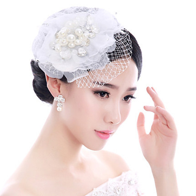 Women's Hair Jewelry For Wedding Engagement Party Wedding Geometrical Crystal Alloy White 1 pc