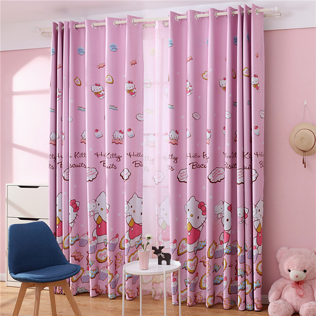 Gyrohome 1PC Pink Cats Shading High Blackout Curtain Drape Window Home Balcony Dec Children Door *Customizable* Living Room Bedroom Dining Room