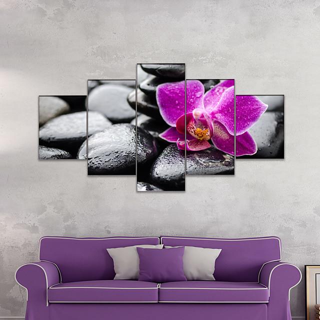 AMJ Hot Sale Black Pebble Pentagram Living Room Sofa Background Wall Decorative Canvas Picture Frameless Core
