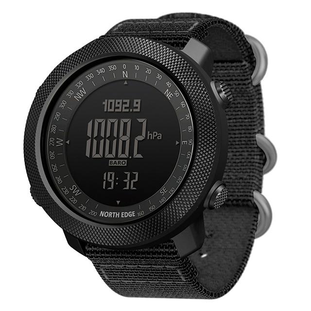 NORTH EDGE APACHE Men Sports Watches Waterproof 50M LED Digital Watch Men Military Compass Altitude Barometer