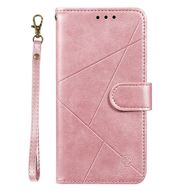 Case For Samsung Galaxy A20 / A20 Plus  A20 Ultra Wallet / Card Holder / with Stand Full Body Cases Lines Waves Solid Colored PU Leather for Galaxy A90 A80 A70 A60 A50 A30 A20 A20E M10 M20 Note10 Plus
