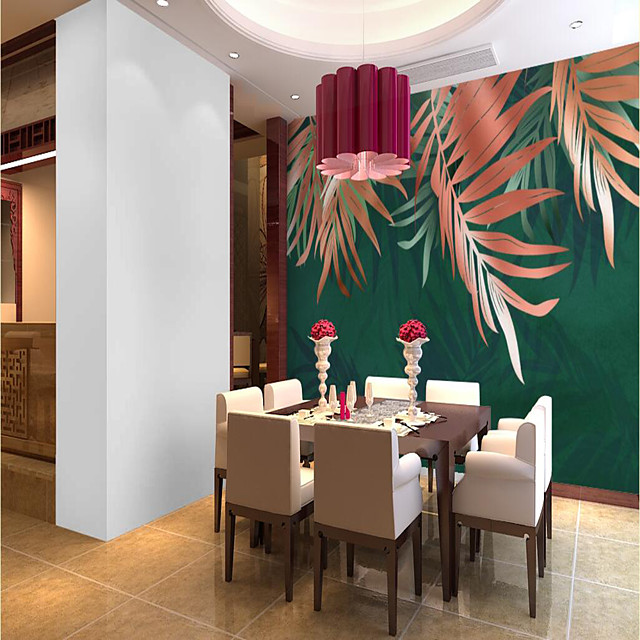 Custom Self-adhesive Mural Wallpaper Red Leaf Is Suitable For Bedroom Living Room  Coffee Shop  Restaurant  Hotel Wall Decoration Art  Room Wallcovering