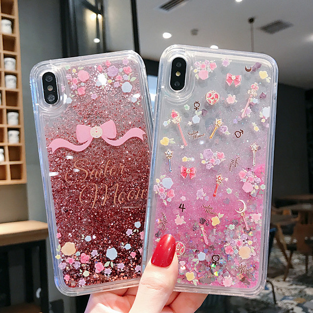 Case For Apple iPhone 11 / iPhone 11 Pro / iPhone 11 Pro Max Shockproof / Flowing Liquid / Pattern Back Cover Glitter Shine PC