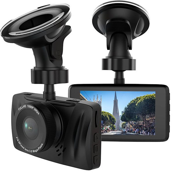 Hidden recorder 1080p Car DVR 170 Degree Wide Angle CMOS 3 inch LCD Dash Cam with WIFI / G-Sensor / Loop recording Car Recorder / WDR
