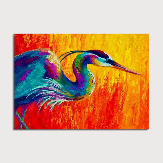 Hand Painted Rolled Canvas Oil Painting Abstract Animal by Knife Home Decoration Painting Only