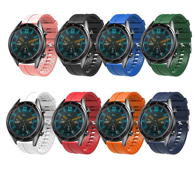 Replaceable Watchbands for HUAWEI WATCH GT 2 46mm/GT Active 46mm/Samsung gear S3 22mm Silicone Strap Band