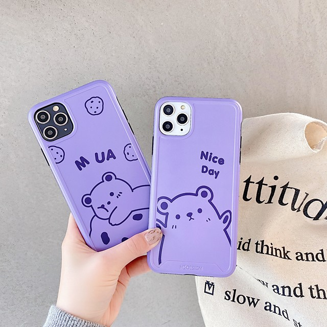 Case For Apple iPhone 11 / iPhone 11 Pro / iPhone 11 Pro Max Shockproof / Ultra-thin / Frosted Back Cover Solid Colored / Animal / Cartoon PC