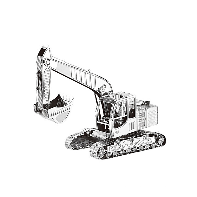 192 pcs Construction Vehicle Jigsaw Puzzle Simulation Metal Teenager Toy Gift