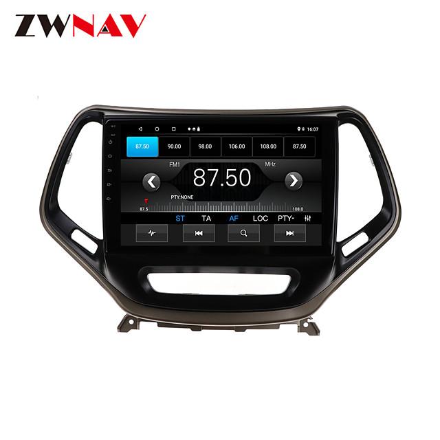 ZWNAV 10.1 inch 1din 1GB 16GB Android 10.0 Car GPS Navigation Car Stereo Player Car Multimedia Player DSP CarPlay For JEEP Cheroki 2014-2018