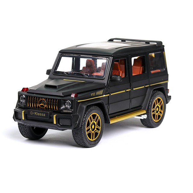 1:24 Toy Car Music Vehicles Car Race Car SUV Climbing Car Special Designed Focus Toy Exquisite Zinc Alloy Rubber ABS+PC Mini Car Vehicles Toys for Party Favor or Kids Birthday Gift / Kid's
