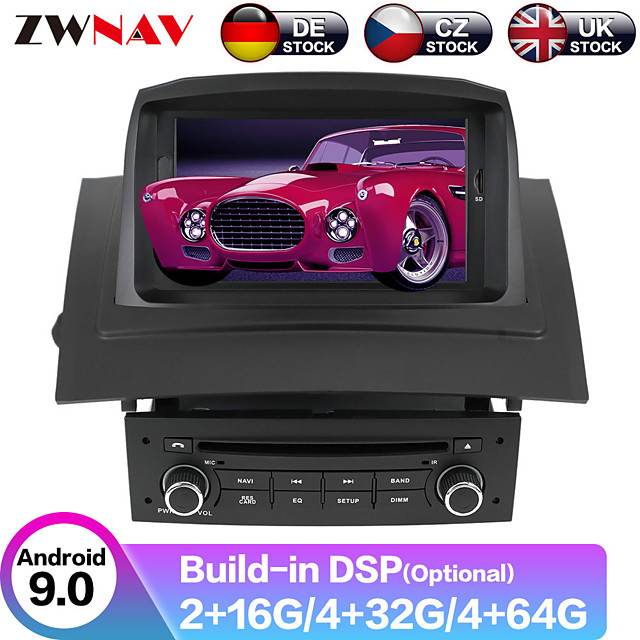 ZWNAV 8inch 1din Octa core CPU Android 9 4GB 64G Car DVD Player Car GPS navigation Car Multimedia Player radio tape recorder for Renault Megane 2 Fluence 2002-2008