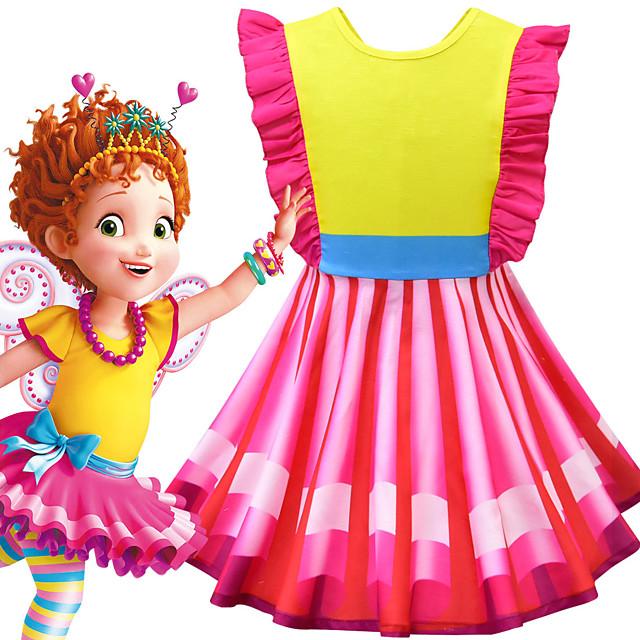Fancy Nancy Dress Cosplay Costume Girls' Movie Cosplay Cosplay Costume Party Red Dress Polyster