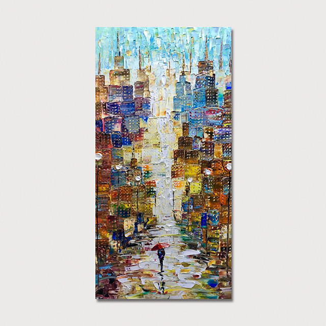 Hand Painted Rolled Canvas Oil Painting  Abstract Modern by Knife Home Decoration  Painting Only