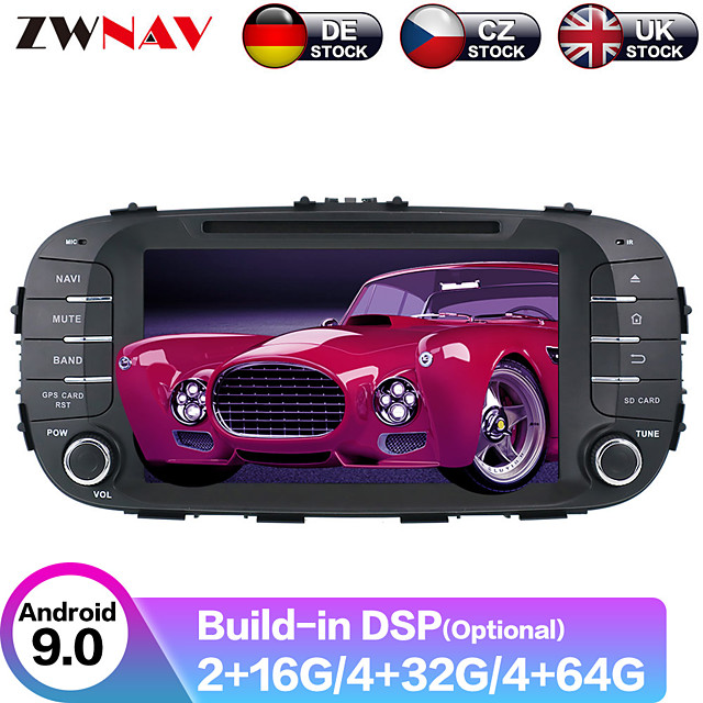 ZWNAV 8inch 2din Auto stereo Android 9 4GB 64GB Car CD DVD Player Car GPS navigation Car multimedia player tape recorder For Kia SOUL 2014-2017