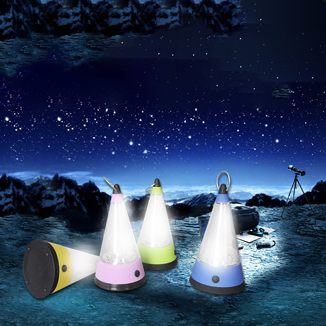 Lanterns & Tent Lights LED LED Emitters Portable Durable Camping / Hiking / Caving Everyday Use Cycling / Bike Purple Yellow Blue