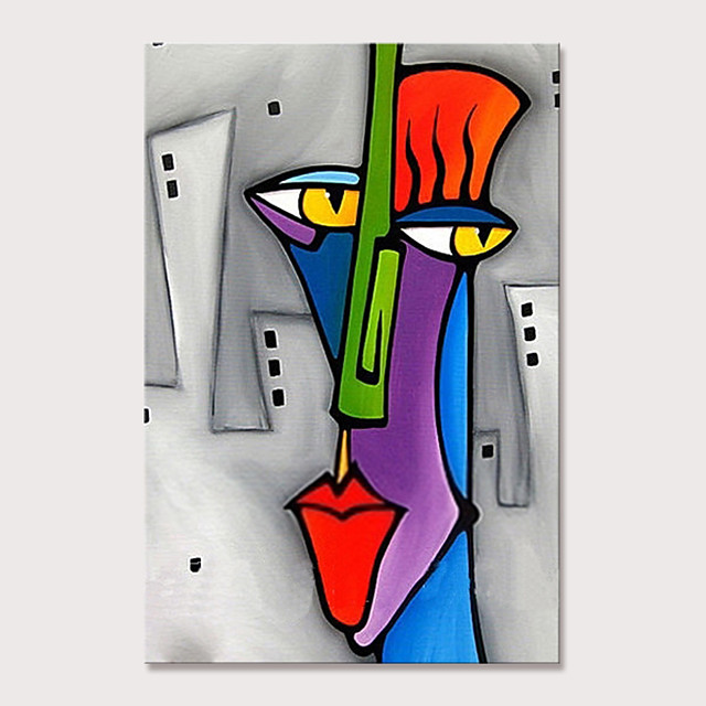 Mintura Large Size Hand Painted Abstract Cartoon Characters Oil Paintings on Canvas Pop Art Wall Pictures For Home Decoration No Framed