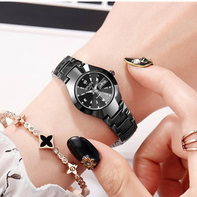 Steel Band Watches Fashion Alloy Quartz Blue Black Water Resistant / Waterproof Calendar / date / day Noctilucent Analog - Digital