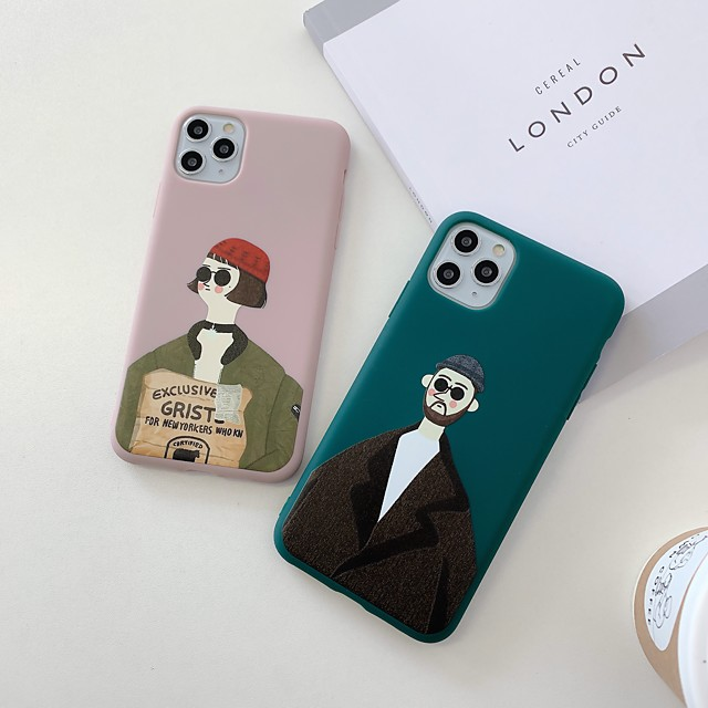 Case For Apple iPhone 11 / iPhone 11 Pro / iPhone 11 Pro Max Shockproof / Ultra-thin Back Cover Solid Colored / Sexy Lady / Cartoon TPU