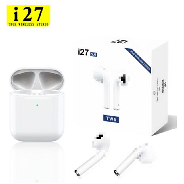 i27 TWS Wireless Headphones 1 to 1 Replica Bliuetooth Earphone Pop Up Headset 11 Air Touch Control Earbuds for Xiaomi iphone Phone