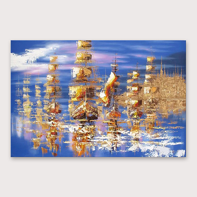 IARTS®Hand Painted Resplendent Oil Painting   with Stretched Frame For Home Decoration