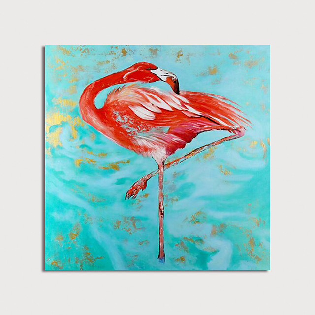 Hand Painted Canvas Oilpainting Abstract Animal by Knife Home Decoration with Frame Painting Ready to Hang
