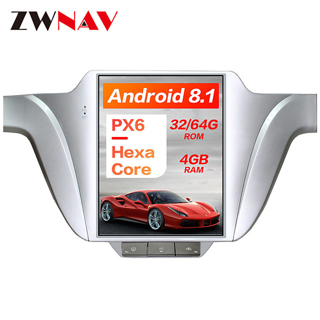 ZWNAV 10.4 inch PX6 4GB 64GB Tesla style 1Din Android 8.1 Car GPS Navigation Car multimedia Player In-Dash Car DVD Player For Volkswagen Lavida 2013-2017