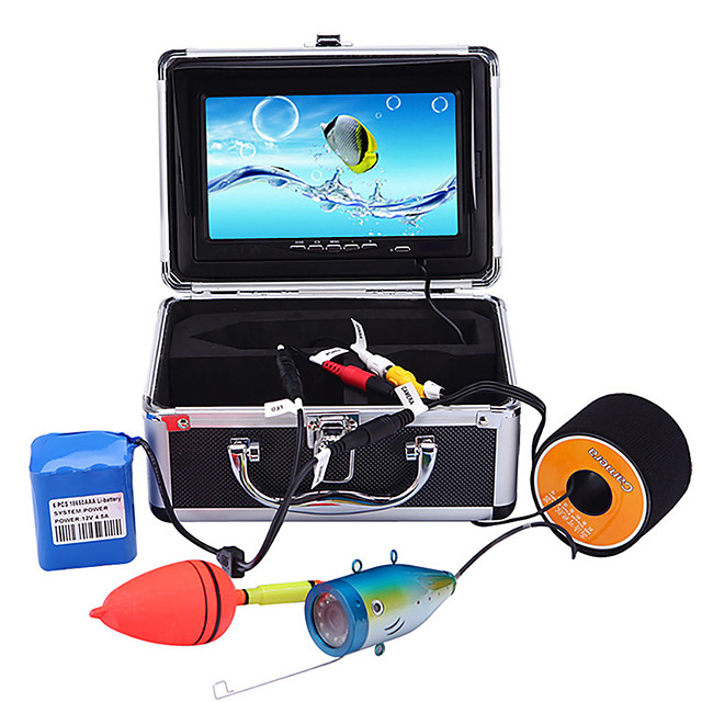 Portable 7 inch LCD Monitor Fish Finder Waterproof Underwater 1000TVL Fishing Camera 15m Cable 12pcs IR Infrared LED for Fishing