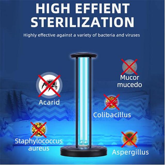Ozone UV Disinfection lamp 360 Degree Remote 38W AC110V 220V UVC Ultraviolet light Germicidal Mite Household Sterilizing lamps
