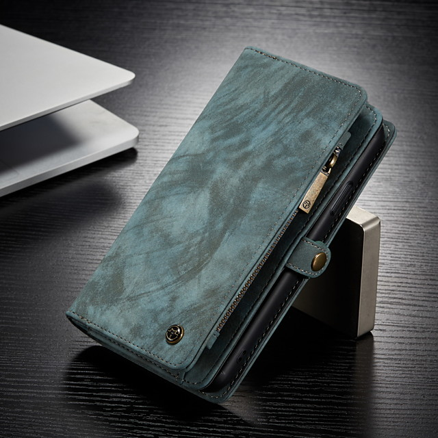 CaseMe Multifunctional Luxury Business Leather Magnetic Flip Case For iPhone Xs Max / X / Xs / Xr With Wallet Card Slot Stand 2-in-1 Detachable Case Cover