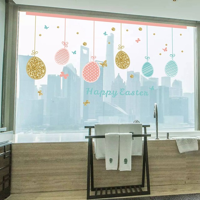 Happy Eastern Wall Stickers Plane Wall Stickers Decorative Wall Stickers PVC Home Decoration Wall Decal Wall / Window Decoration 1pc