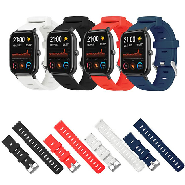 20mm Sport Silicone Watchband Strap for Amazfit GTS Smart Watch Replace Strap