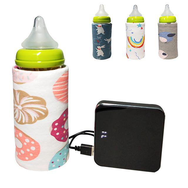 1pc usb γάλα νερό θερμότερο ταξίδι καροτσάκι μόνωση τσάντα μωρό θηλάζοντας μπουκάλι θερμάστρα τυχαία χρώμα