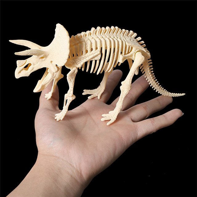 3D Puzzle Dinosaur Fossil Dinosaur Figure Dinosaur Animals Cute Exquisite Plastic Kid's Child's All Toy Gift