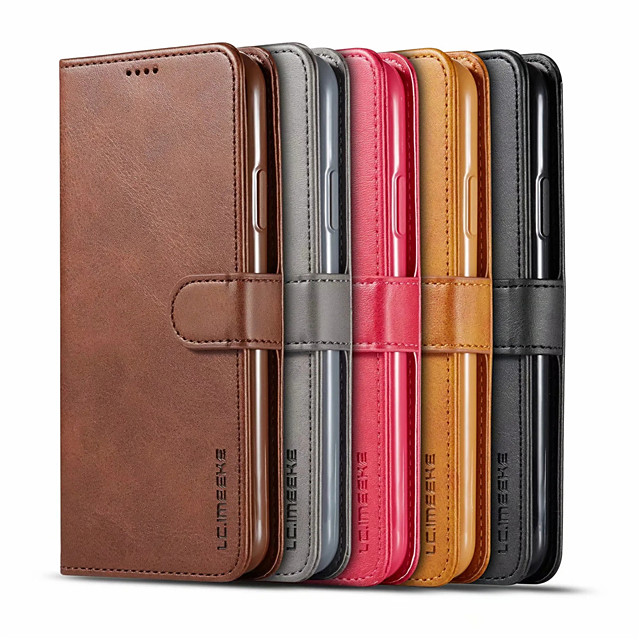 Case For Samsung Galaxy S20 Plus / S20 Ultra / S20 Card Holder / Flip Full Body Cases Solid Colored PU Leather / TPU