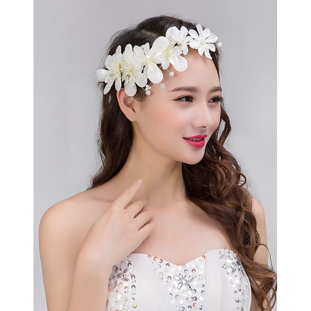 Women's Hair Jewelry For Wedding Engagement Party Wedding Geometrical Crystal Alloy Red White 1 pc