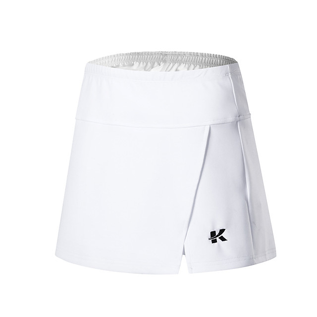 Women's Tennis Golf Skirt Quick Dry Breathable Soft Sports Outdoor Summer Solid Color White Black / High Elasticity
