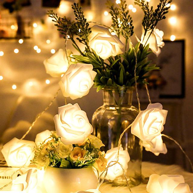 LED Rose Lantern String Lantern Valentine'S Day New Year Decoration Light Girl Heart Room Birthday Arrangement Confession Light String