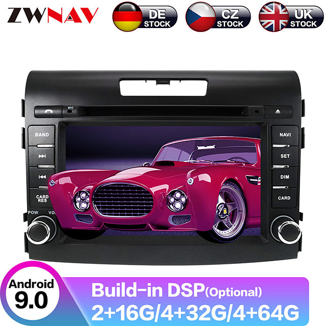ZWNAV 7 inch 2 DIN Android 9.0 In-Dash Car DVD Player / Car MP5 Player / Car GPS Navigator Touch Screen / GPS / Steering Wheel Control for Honda RCA / Mini USB / MicroUSB Support MPEG / AVI / MPG MP3