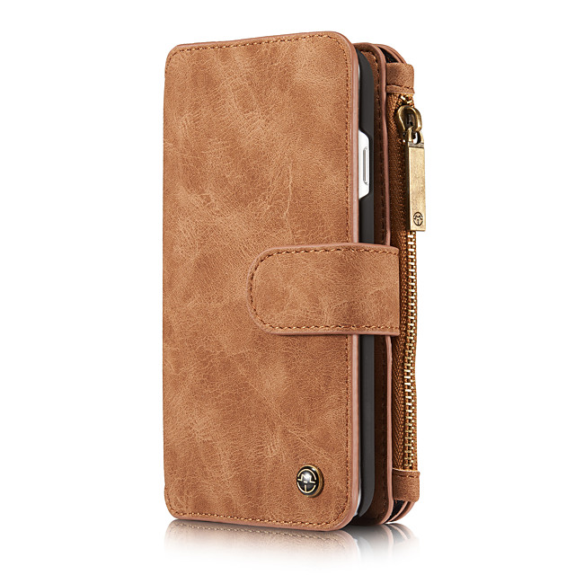 CaseMe Multifunctional Magnetic Luxury Business Leather Flip Phone Case For iPhone 8 / 7 / 6 / 6s / 8 Plus / 7 Plus / 6 Plus With Wallet Card Slot Stand Detachable Case Cover