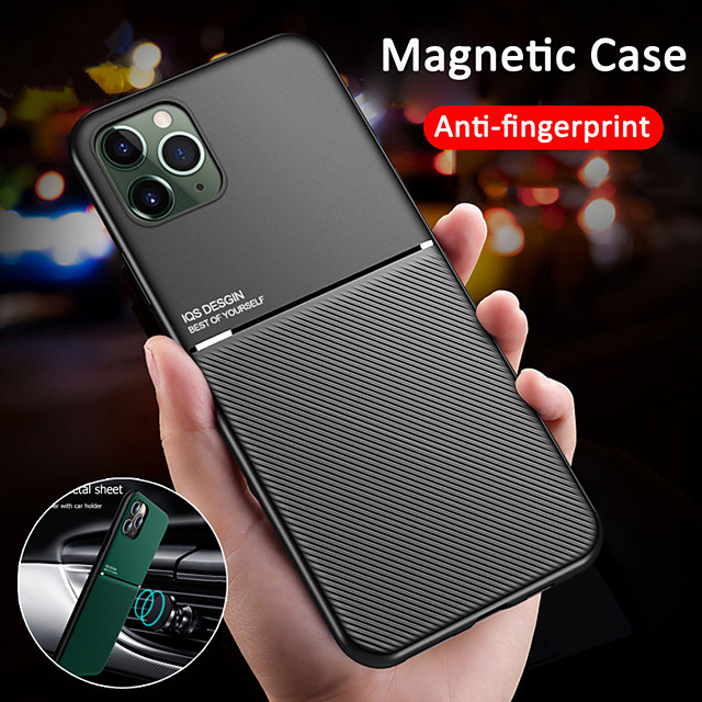 Case For Apple iPhone 11 / iPhone 11 Pro / iPhone 11 Pro Max Ultra-thin Back Cover Solid Colored TPU / Metal