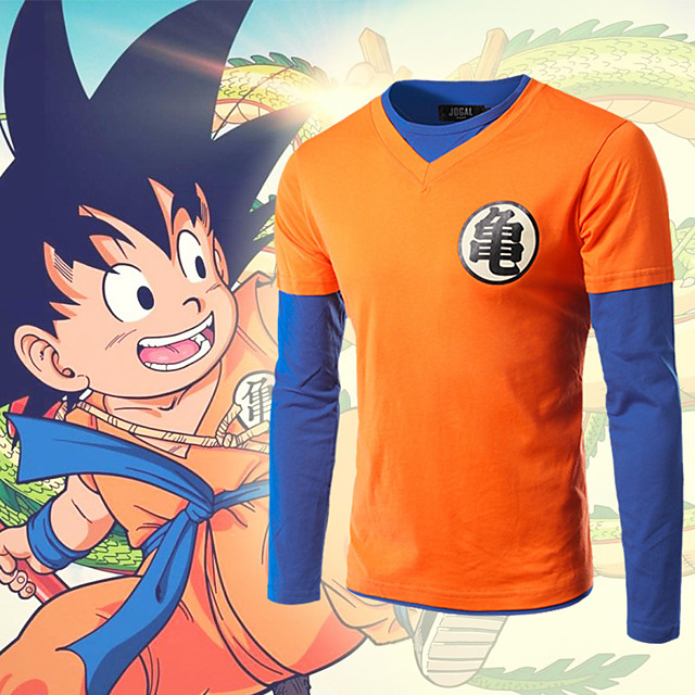 Inspired by Dragon Ball Son Goku Cosplay Anime Cosplay Costumes Japanese Cosplay T-shirt Top For Men's Women's