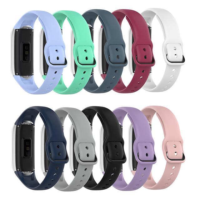 Watch Band for Samsung Galaxy Fit SM-R370 Samsung Galaxy Modern Buckle Silicone Wrist Strap