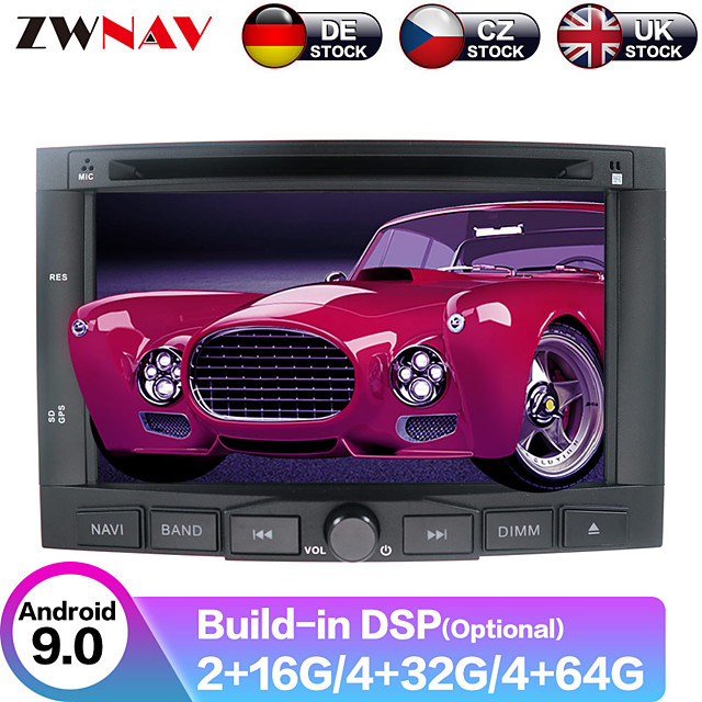 ZWNAV 6.2inch 2din DSP Android 9 Car DVD player car Multimedia Player radio tape recorder Car GPS navigation Car MP5 Player radio Stereo For PEUGEOT 3008/Peugeot 5008 2009