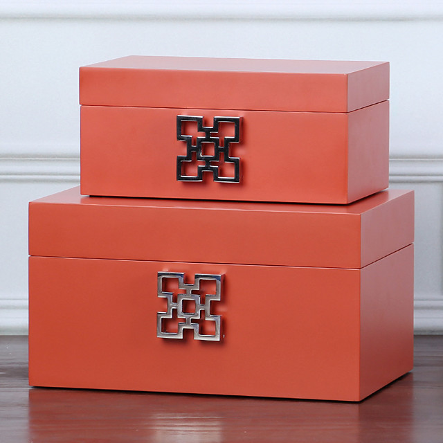 Square Jewelry Box - Wooden Light Green, White, Red 18 cm 8 cm 12 cm / Women's