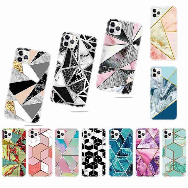 Case For Apple iPhone 11 / iPhone 11 Pro / iPhone 11 Pro Max Frosted / Pattern Back Cover Geometric Pattern TPU