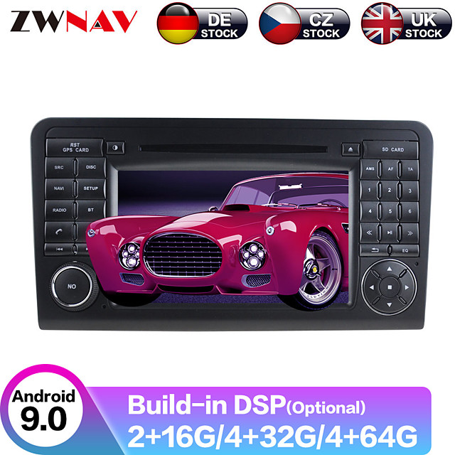 ZWNAV 6.2inch 2din DSP Android 9.0 Car DVD Player GPS navigation Car MP5 Player car Multimedia Player radio tape recorder For Benz ML300/ML350/ML450/ML500 2005-2012